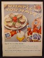 Magazine Ad For Pabst Blue Ribbon Beer, Oysters & Crackers, 1953
