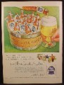 Magazine Ad For Pabst Blue Ribbon Beer, Wood Tub Filled With Bottles, 1954