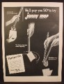 Magazine Ad For Jonny Mop, Clean Toilet Bowl, Foam Pads, 1954