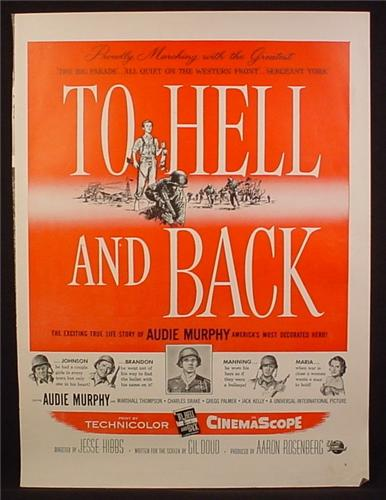 Magazine Ad For To Hell And Back Movie Audie Murphy