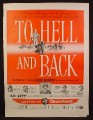 Magazine Ad For To Hell And Back Movie, Audie Murphy, Cinemascope, Poster, 1955