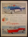 Magazine Ad For Packard Clipper Custom Constellation Car, Custom 4 Door, Side Views, 1955