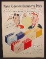 Magazine Ad For Kleenex Tissues, Little Lulu Cartoon, Tubby, Economy Pack, 1955