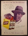 Magazine Ad For Schlitz Beer, 6 Pack Carton of 16 Ounce Cans, Feel The Difference, 1955