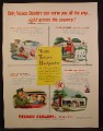 Magazine Ad For Texaco Touring Headquarters, Gas Service Station, 1955