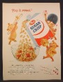 Magazine Ad For Post Sugar Crisp Cereal, 3 Bears in Marching Band Parade, 1955