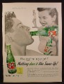 Magazine Ad For 7UP Seven-Up, How Cool Can A Guy Get, Guy & Girl In Bathing Suit, 1955
