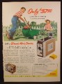 Magazine Ad For Brownie Movie Camera & Projector, 8mm, Boy & Mother in Garden, 1955