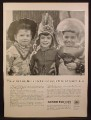 Magazine Ad For Saving And Loan Foundation, Kids In Costume, Cowboy, Indian, Space Cadet, 1955