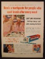 Magazine Ad For Gleem Toothpaste with GL-70, Mother & Daughters Matching Pink Outfits 1955