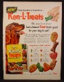 Magazine Ad For Ken-L Treats Dog Biscuits, Setter, 6 Shapes, 1955