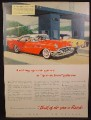 Magazine Ad For Buick 4 Door Riviera Car, Toll Booth, Side Front & Rear Views, 1955