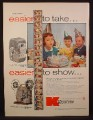 Magazine Ad For Keystone Capri K-25 Movie Camera & K-100M Projector, 8mm, 1955
