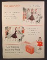 Magazine Ad For Kleenex Tissue, Little Lulu Cartoon, Cold Cream On Fingers, 1955