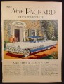 Magazine Ad For Packard Four Hundred Car, White & Blue, Front & Side View, 1955