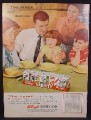 Magazine Ad For Kellogg's Cereals in Variety pack, Whole Family of Redheads, 1956