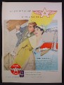 Magazine Ad For Veedol Motor Oil, Under The Wings Of The Flying A, Honeymoon 1956