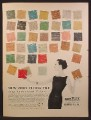 Magazine Ad For KenFlex Vinyl Floor Tile, 38 Tile Colors Pictured, 1956