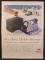 Magazine Ad For Mobilgas, Mobil Start-O-Scope Instrument To Check a Battery, 1956