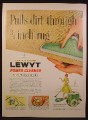Magazine Ad For Lewyt Power Cleaner, Steam Cleans Carpet, 1956