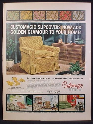Magazine Ad For Customagic Furniture Slipcovers, Slip Cover, 1956