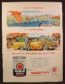 Magazine Ad For Havoline Motor Oil, Cross-Country or Cross-Town, Oil Can, 1956
