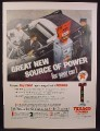 Magazine Ad For Texaco Dealers, Gas Pump, Large Sign, Source of Power, 1956