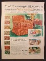 Magazine Ad For Customagic Furniture Slipcovers, Golden-Fleck, Slip Cover, 1956