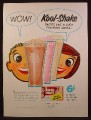 Magazine Ad For General Foods Kool-Shake Mix, Makes Milk Shakes, 1956