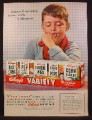 Magazine Ad For Kellogg's Variety Pack Cereal, Junior Executive Alone With A Decision, 1956