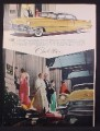 Magazine Ad For Gold Cadillac in Front of the Hotel Mark Hopkins, 1956