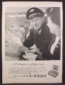 Magazine Ad For Dutch Masters Cigars, Northwest Airline Pilot & Stewardess, 1956