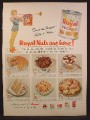 Magazine Ad For Royal Pecans Nuts in Can, Royal Nuts Are Here, 1956