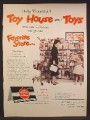 Magazine Ad For Toy House Approved Toys, Store Display, 1957