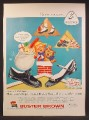 Magazine Ad For Buster Brown Shoes, Boys & Girls, Going Down Chimney, 1957