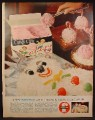 Magazine Ad Foremost Candy Cane Flavor Ice Cream, Snowballs, 1961, 10 3/8 by 14, 1961 Life Magazine