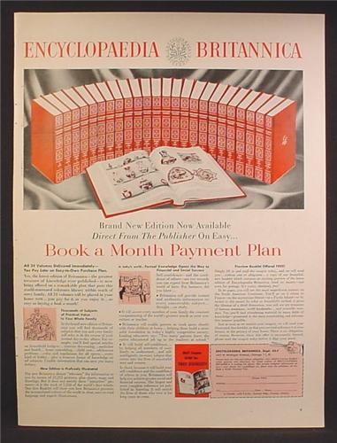 Magazine Ad For Encyclopedia Britannica, Book A Month Payment Plan, 1957