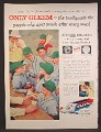Magazine Ad For Gleem Toothpaste, Boys Baseball Team Eating Hot Dogs, 1957