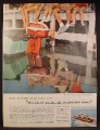 Magazine Ad For Johnson 18HP Sea Horse Outboard Motor, Red & White, 1957