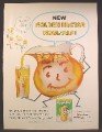 Magazine Ad For Kool-Aid Golden Nectar Flavor, Kool Aid, Packet, Pitcher, 1957