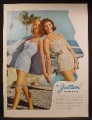 Magazine Ad For Jantzen Swim Suits, 2 Models In Bathing Suits, All Girls Are Gorgeous, 1957