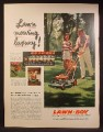 Magazine Ad For Lawn-Boy 21 Inch Self Propelled Lawn Mower, Automower, 1957