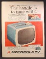 Magazine Ad For Motorola Americana Portable TV, Television Tuner in Handle, 1957