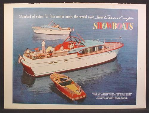 Magazine Ad For Chris Craft Wooden Boats Yacht Runabout Cruiser 1957