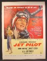 Magazine Ad For Howard Hughes, Jet Pilot Movie, John Wayne, Janet Leigh, Poster, 1957