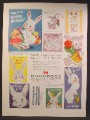 Magazine Ad For Norcross Greeting Cards, Easter Cards, Easter Bunny, 1957