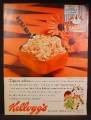 Magazine Ad For Kellogg's Sugar Frosted Flakes Cereal, Tiger Striped Spoon, 1959
