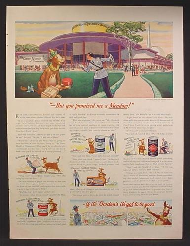 Magazine Ad For Borden's Dairy Products, Elsie The Cow, Malted Milk, Magic Milk, 1939