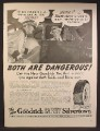 Magazine Ad For Goodrich Safety Silvertown Tires, Skids & Blow-Outs Are Dangerous, 1940