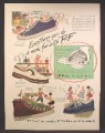 Magazine Ad For B.F. Goodrich & Hood Rubber, Canvas Shoes & Sneakers, 1947